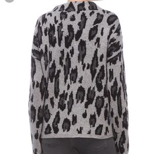 ply cashmere Sweaters - Women's ply cashmere leopard cashmere sweater NWT